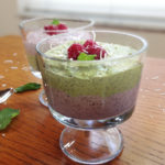 Raspberry and Matcha Chia Pudding